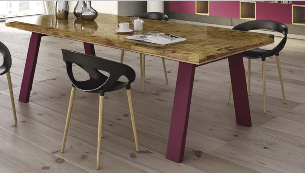 Tuscany Contemporary Scandinavian Resin Top Dining Table