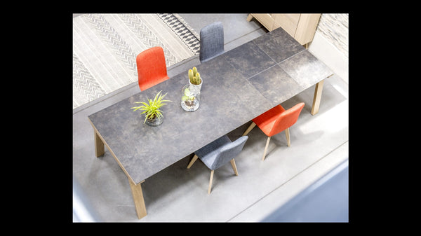 Copenhagen - Extending Oak Table with Ceramic Top
