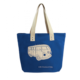 VW Canvass Shopping Bag - DARK BLUE