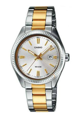 CASIO MTP1302SG-7A Gents Vintage Analog Gold x Silver