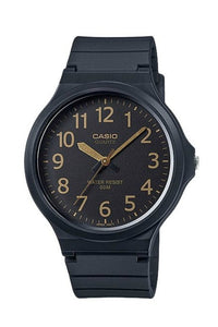 CASIO MW240-1B2 Gents Vintage Analogue Black x Gold