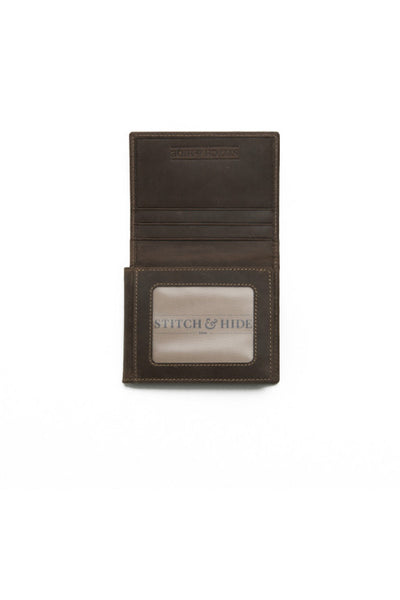 STITCH AND HIDE Hugo Wallet Brown
