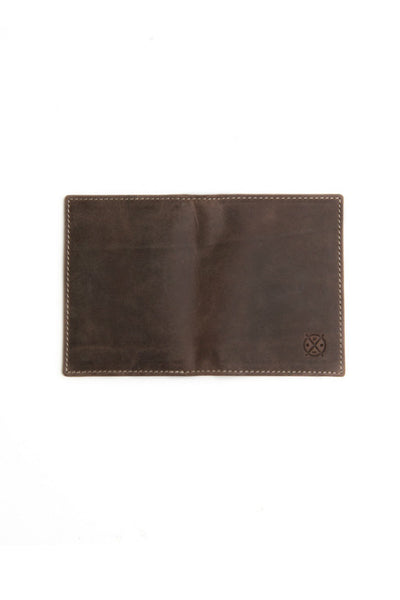 STITCH AND HIDE Charleston Wallet Brown