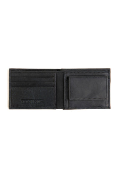 STITCH AND HIDE George Wallet Steele Black
