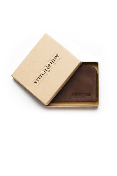STITCH AND HIDE Hendrix Wallet Brown