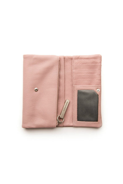 STITCH AND HIDE Paige Wallet Dusty Rose