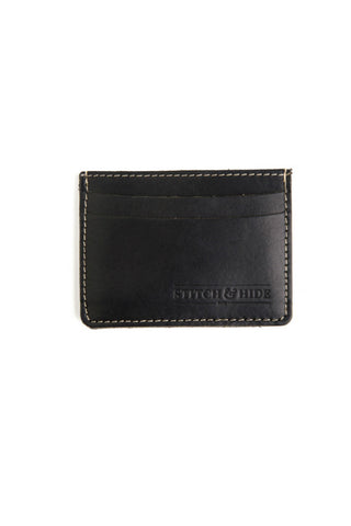 STITCH AND HIDE Herbert Wallet Black