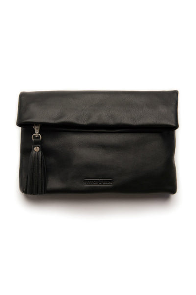 STITCH AND HIDE Lily Clutch Black
