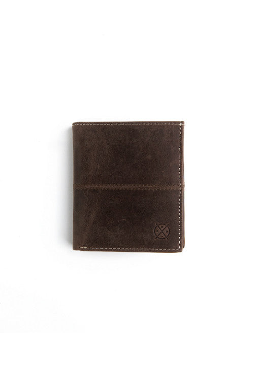 STITCH AND HIDE Bernard Wallet Dark Brown