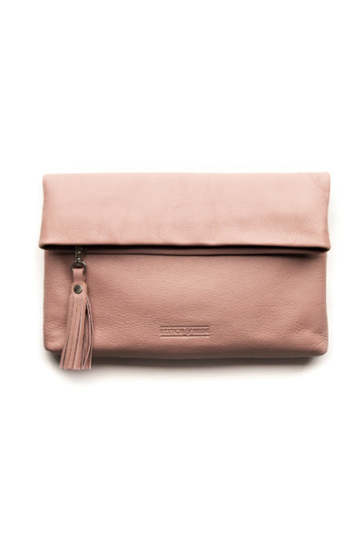 STITCH AND HIDE Lily Clutch Dusty Rose