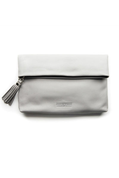 STITCH AND HIDE Lily Clutch Misty Grey