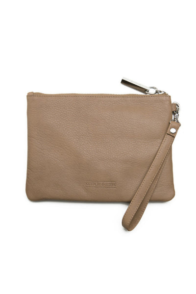 STITCH AND HIDE Cassie Clutch Dusty Linen