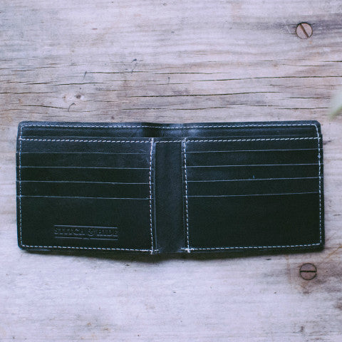 STITCH AND HIDE Connor Wallet Black