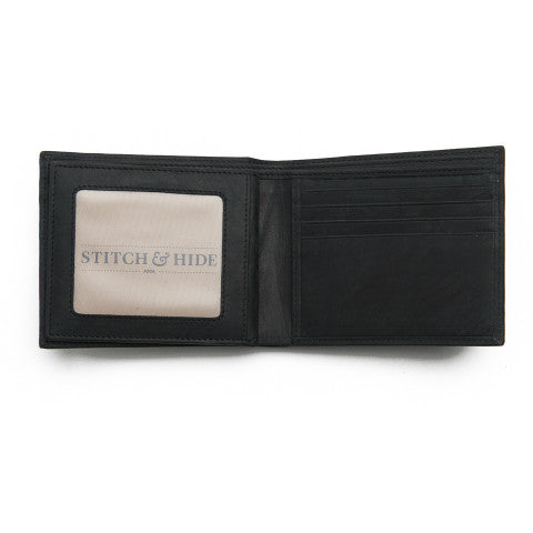 STITCH AND HIDE Henry Wallet Black