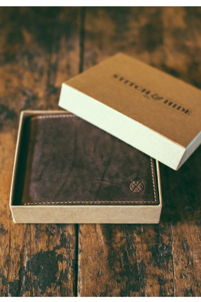STITCH AND HIDE Henry Wallet Brown