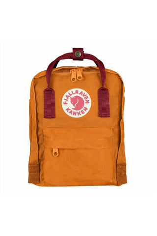 FJALLRAVEN Kanken Mini Burnt Orange x Deep Red