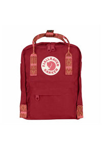 FJALLRAVEN Kanken Mini Deep Red x Folk Pattern