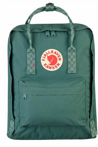 FJALLRAVEN Kanken Original Frost Green x Chess Pattern