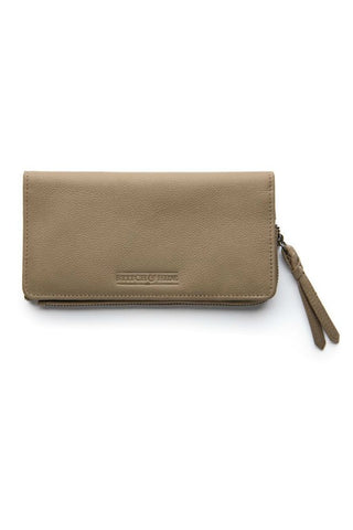 STITCH AND HIDE Penni Slimline Wallet Dusty Linen