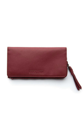 STITCH AND HIDE Penni Slimline Wallet Cherry