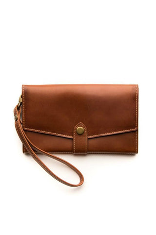 STITCH AND HIDE Sophie Phone Wallet Maple