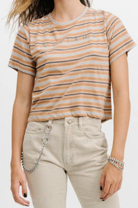 THRILLS CO Venice Crop Tee Stripe