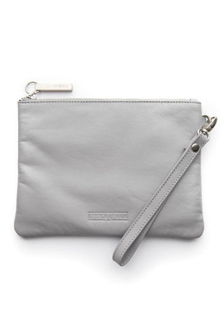 STITCH AND HIDE Cassie Clutch Misty Grey