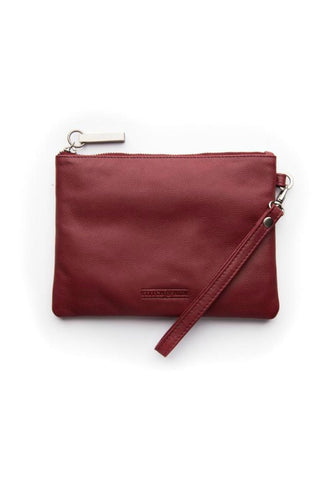 STITCH AND HIDE Cassie Clutch Cherry