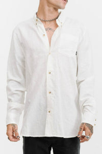 THRILLS CO Century LS Shirt Dirty White