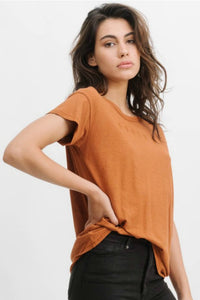 THRILLS CO Classic Embro Hemp Tee Leather