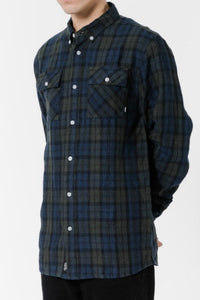 THRILLS CO Blackwatch Linen LS Shirt Plaid