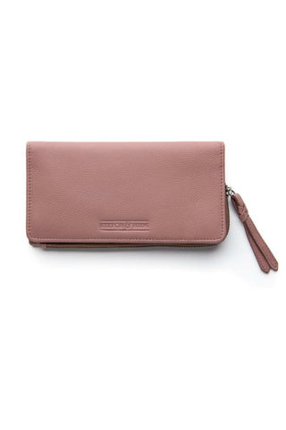 STITCH AND HIDE Penni Slimline Wallet Dusty Rose