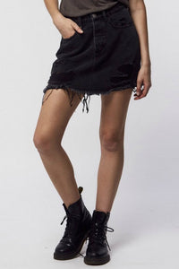 THRILLS CO Patti Skirt Faded Black
