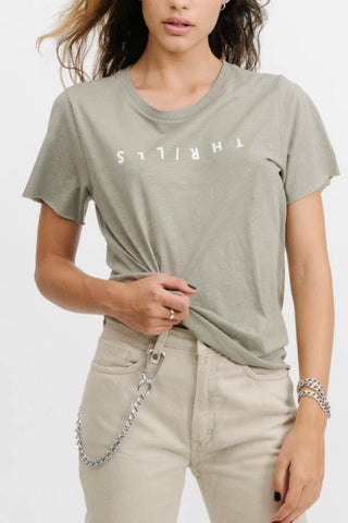 THRILLS CO Classic Logo Loose Fit Tee Sage