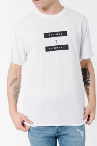 THRILLS CO Segment Tee White