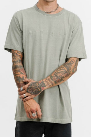 THRILLS CO Classic Embro Tee Sage