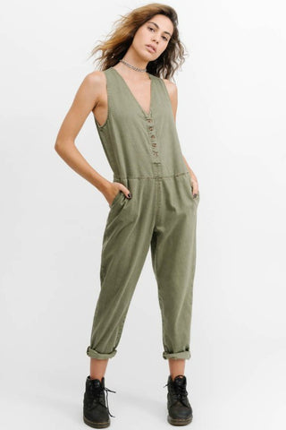 THRILLS CO Shadows Jumpsuit Army Green