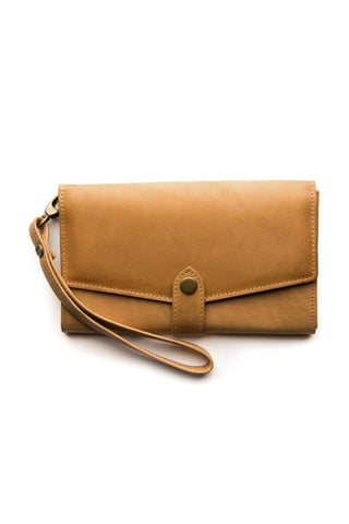 STITCH AND HIDE Sophie Phone Wallet Caramel