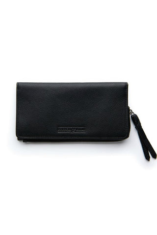 STITCH AND HIDE Penni Slimline Wallet Black