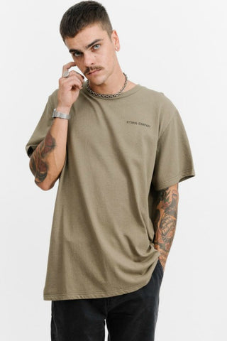 THRILLS CO Storm Merch Fit Tee Army Green