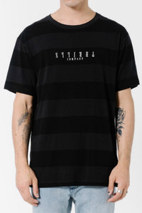THRILLS CO Black Stripe Tee