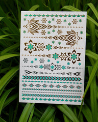 Flower Power Temporary Metallic Tattoos