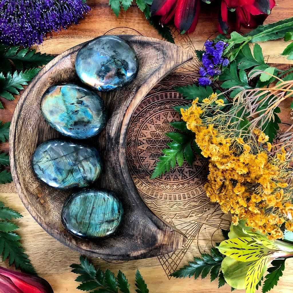 Labradorite Palm Stone | Mini