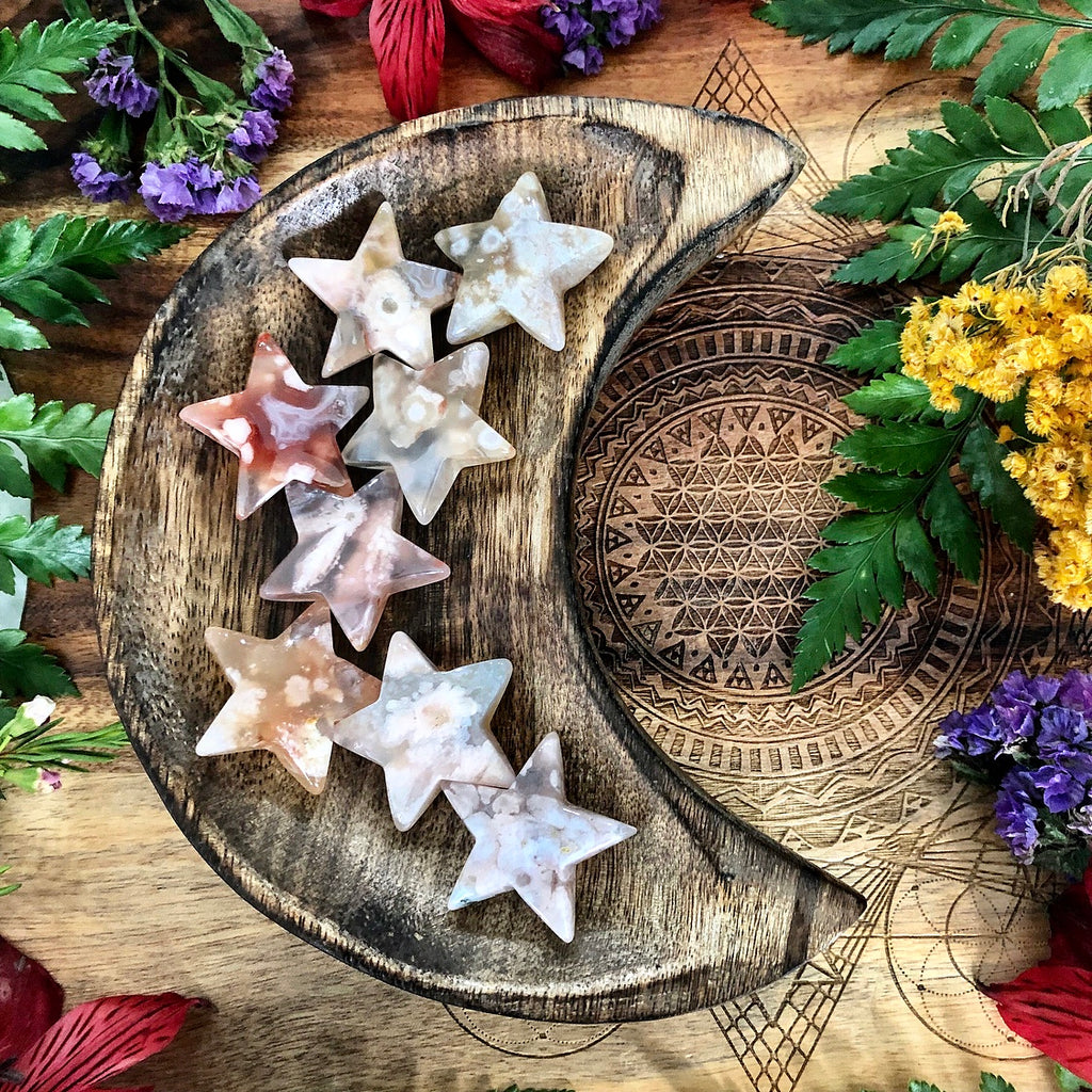 Flower Agate Star | Mini