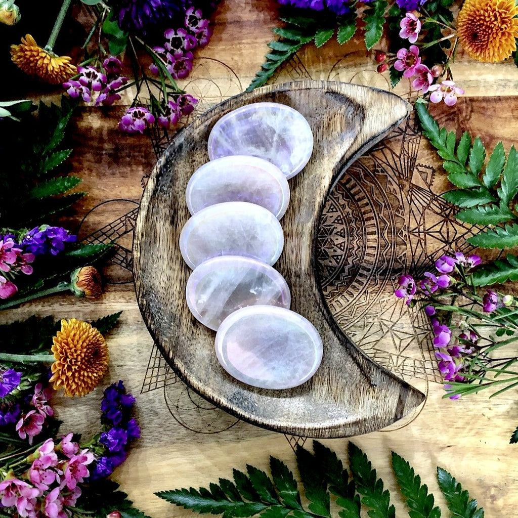 Angel Aura Rose Quartz Worry Stone