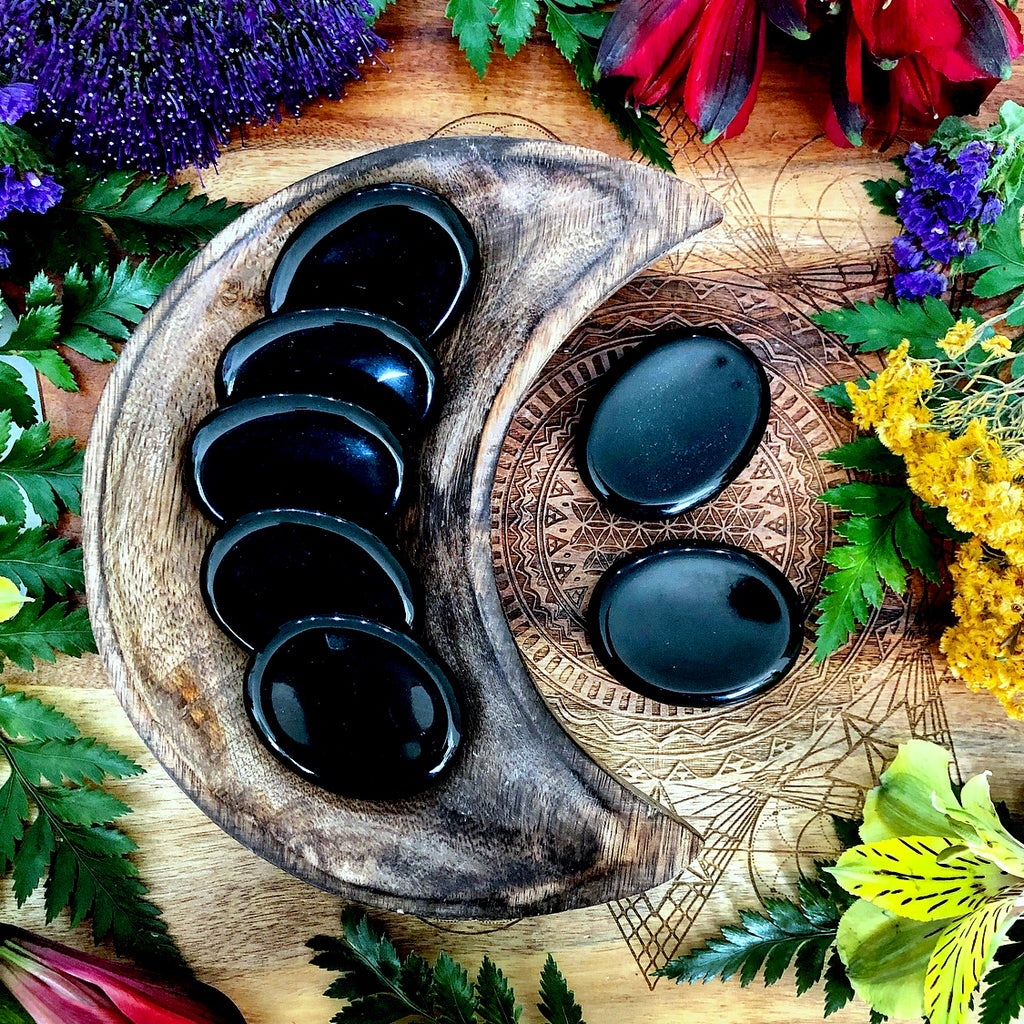 Black Obsidian Worry Stone
