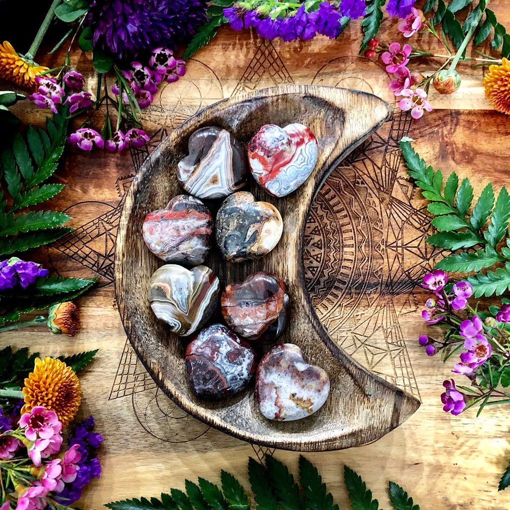 Crazy Lace Agate Heart | Small
