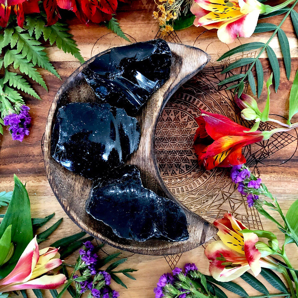 Black Obsidian | Raw Gem ~ Small
