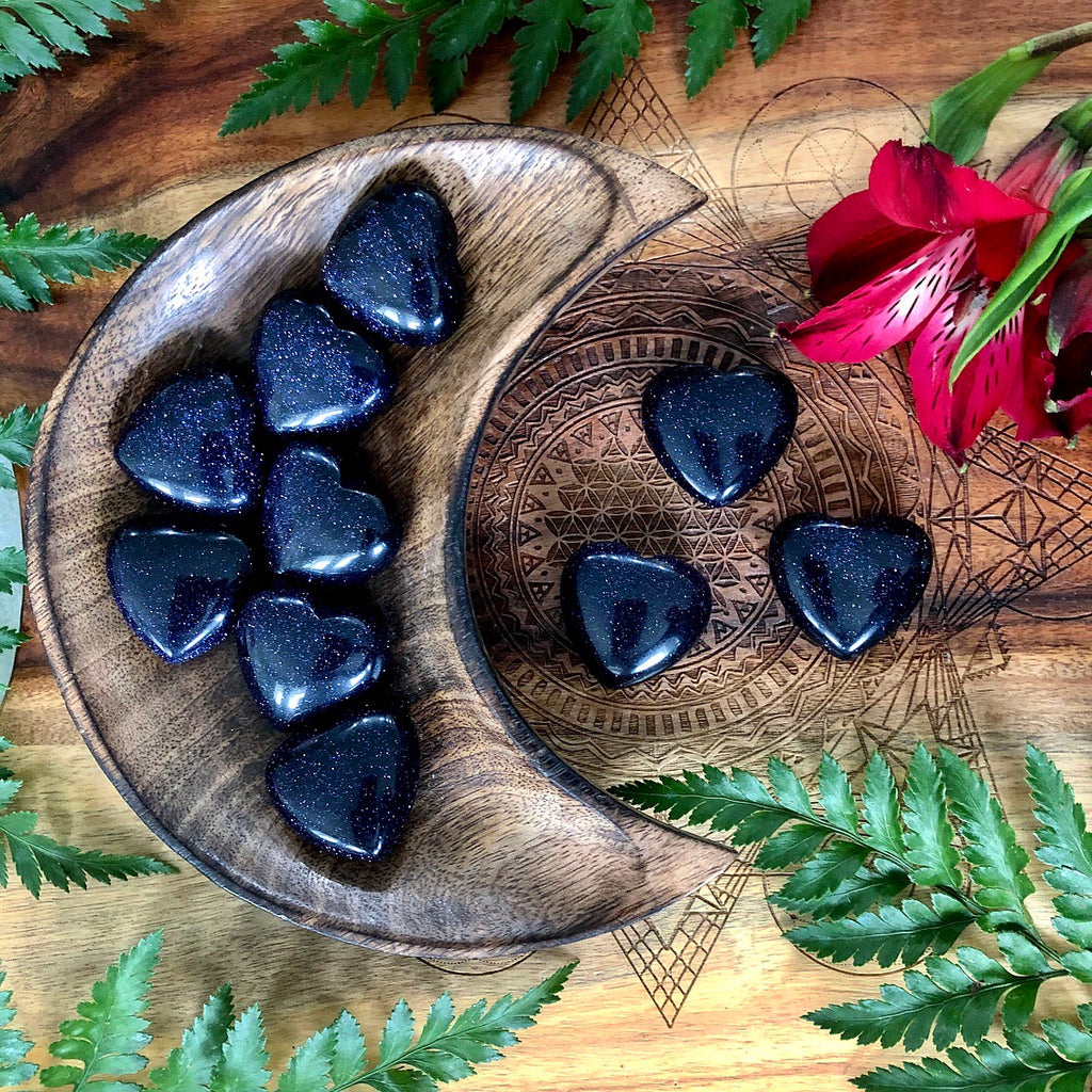 Blue Goldstone Heart | Small