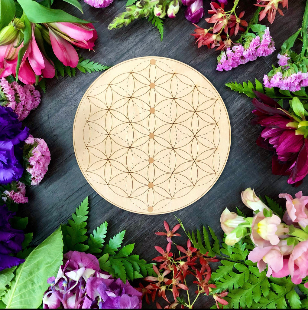 Crystal Grid | 7 Chakra Flower Of Life